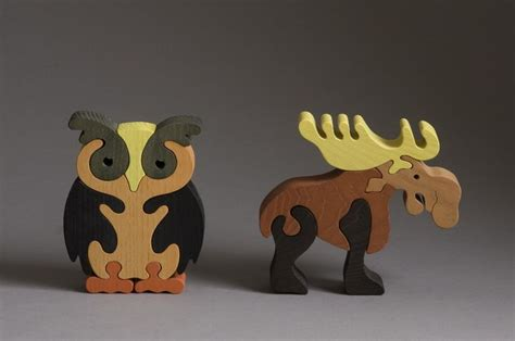 owl  moose wooden puzzle scroll  projects