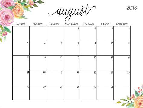 pin khd cute august calendar printable