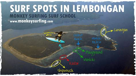 map  lembongan surf spots playground lacerations