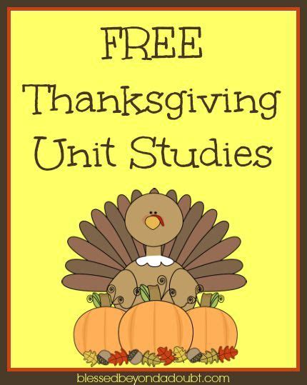 free thanksgiving unit studies thanksgiving preschool
