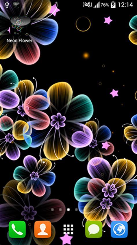 neon flowers  android baixar gratis  papel de parede