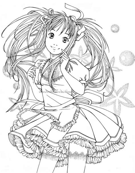 Kleurplaat Pozen by 13 Best Of Anime Coloring Pages Bestofcoloring