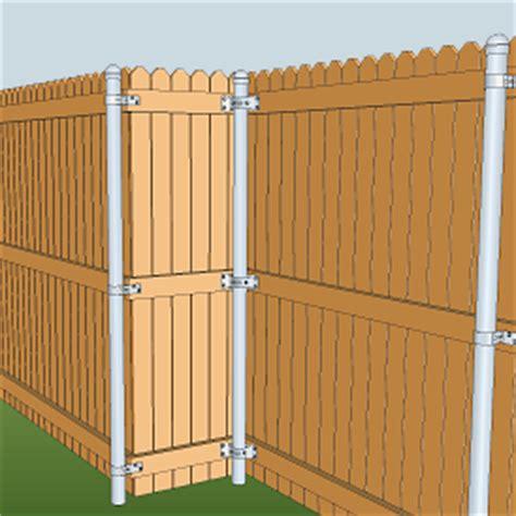 fencing  metal posts diy
