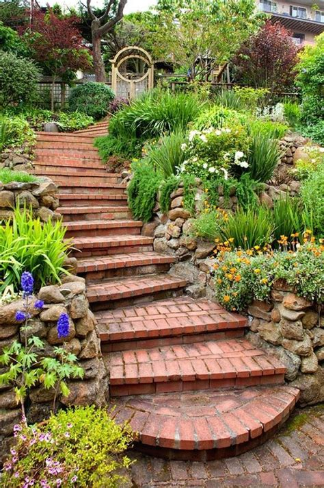garden step design landscape design garden stairs diy home decor