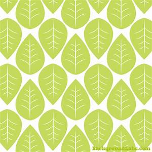 Green Leaves Seamless Pattern - Background Labs