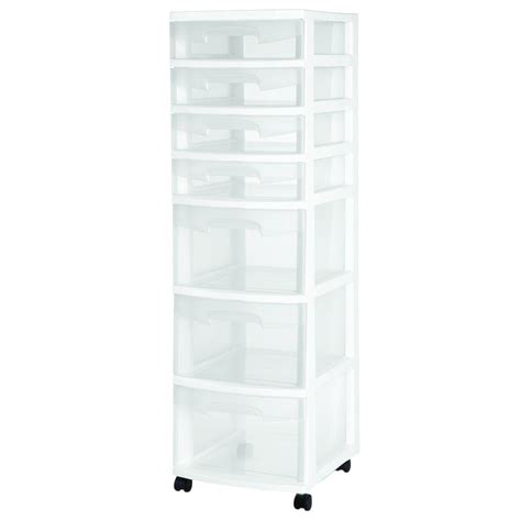 Sterilite 4 Shelf Cabinet Home Depot by Sterilite 7 Drawer Cart 28348002 The Home Depot