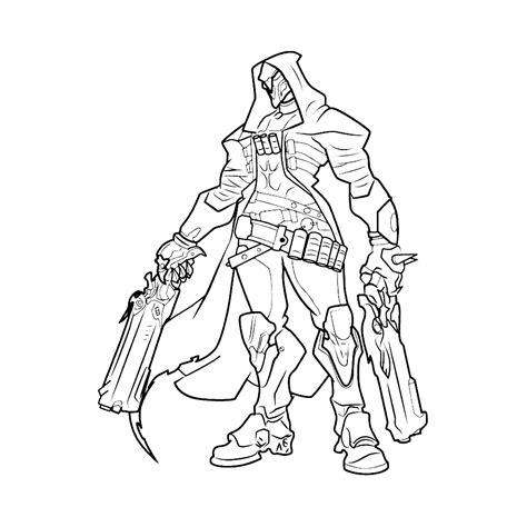 Kleurplaten Overwatch leuk voor reaper