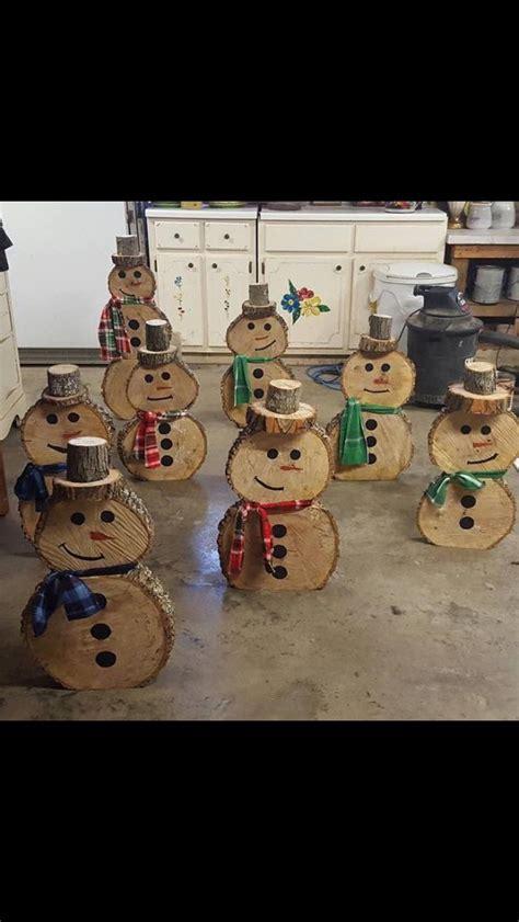 tree slab snowman holiday christmas pinterest