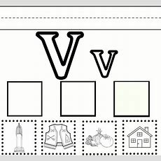 Letter V Preschool Learning Worksheet With Free Printable  Sydney's Education  Letter V
