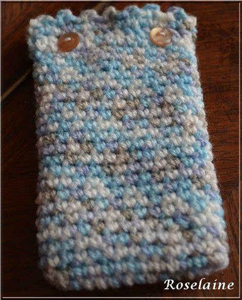 pochette telephone au crochet avec tuto je tricote tu
