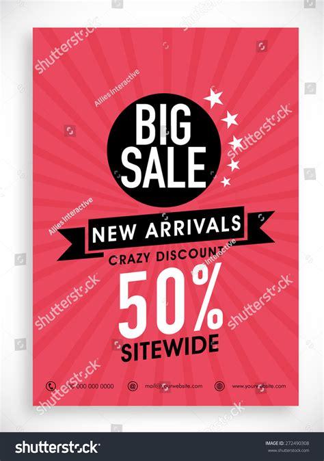 stylish big sale poster banner flyer stock vector 272490308 shutterstock