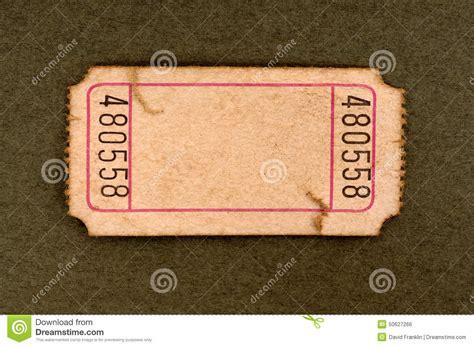 blank torn ticket stock photo image