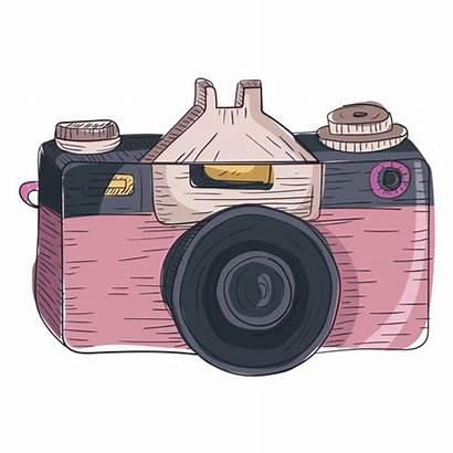 Camera Digital Icon Sketch Cartoon Cameras Transparent
