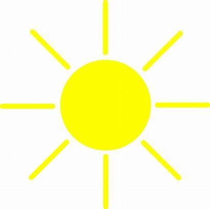 Sun Yellow Clip Clipart Clker Vector Royalty