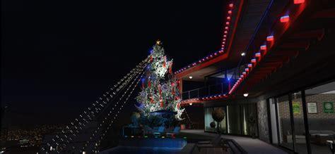 christmas lights with water fountain lighting menyoo