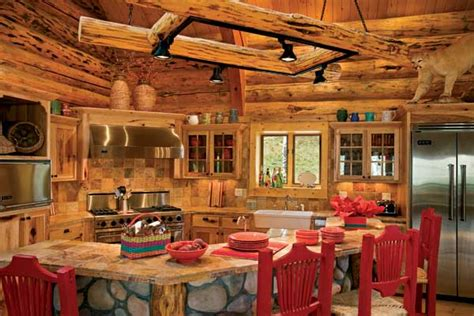 log cabin kitchen backsplash ideas altitude adjustment a handcrafted log home in colorado