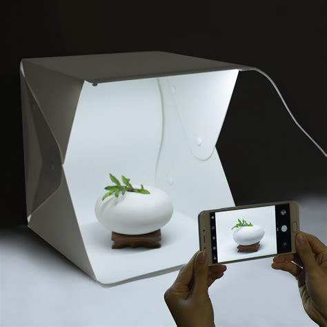 mini estudio fotografico iluminacion led cargador  cable