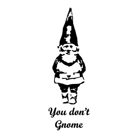 dont gnome wall quotes decal wallquotescom