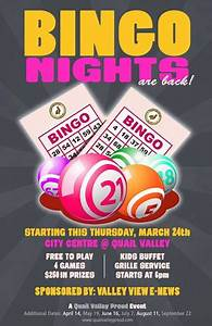 Event Sign Up Sheet Template Bingo Night At Quail Valley Golf Grille Events