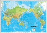 P0438 World Map Poster Large Detailed Physical Map Of The ...