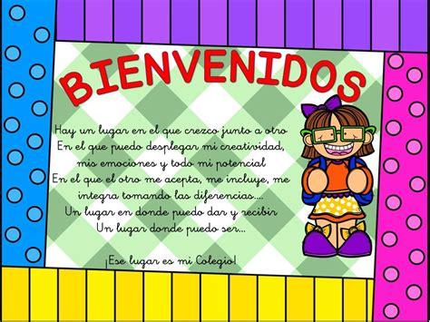 carteles de bienvenida infantil  primaria orientacion