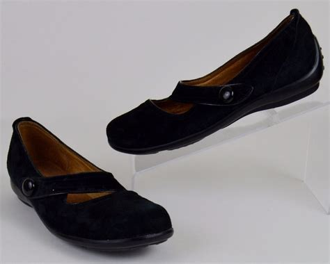 clarks privo womens shoes size   black suede mary