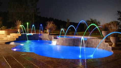pool with lights in ground add ons rising sun pools and spas