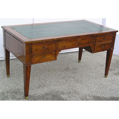 vieux bureau bois assiette vieux nyon décor bleuet et bord brun moinat sa