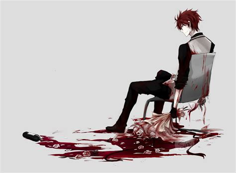 Anime Bloody Wallpaper - anime boy blood flowers wallpaper anime wallpaper better
