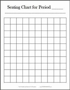 Free Printable 10x10 Classroom Seating Chart