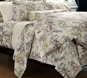 Construction Site Sign In Sheet Quilted Cotton Percale Asian Toile Coverlet Saru For
