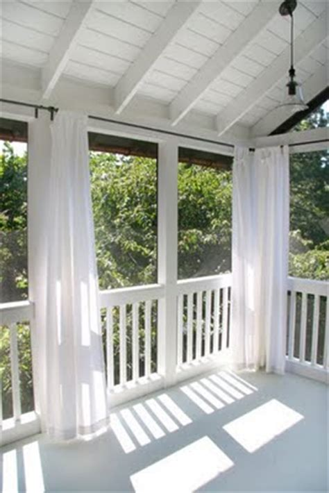 screened porch curtains on