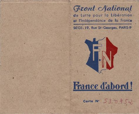 bureau du front national file carte front national 1944 recto jpg wikimedia commons