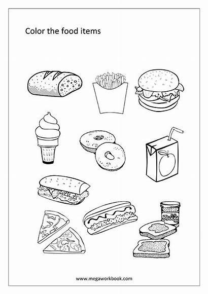 Coloring Sheets Words Pages Printable Items Sheet