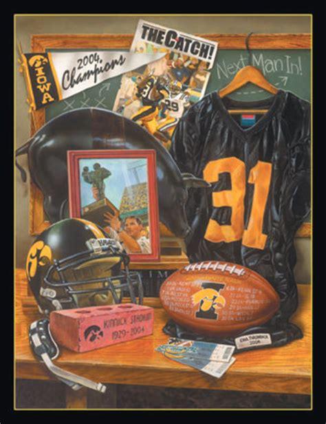 iowa hawkeyes season  remember   football art print