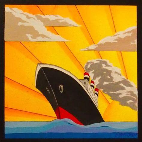 Art Deco Boat Poster by Art Deco Boat Ship Art Deco Artists In Devon Art Deco