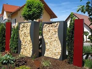 Kaminholzregal Außen Metall : kaminholzregal metall 1 5m x 1 2m x0 35 m oberfl che pulverbeschichtet nach farbkarte mit dekor ~ Frokenaadalensverden.com Haus und Dekorationen