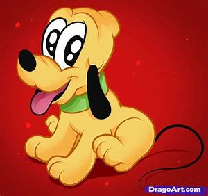 Baby Pluto Step By Disney Characters Cartoons Draw Cartoon
