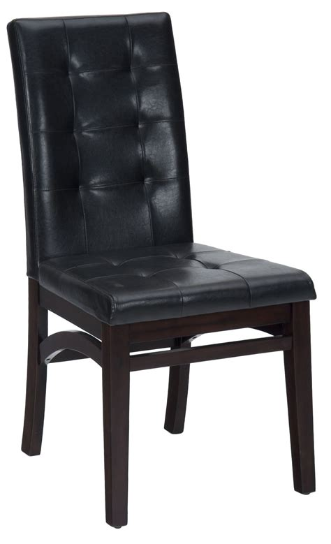 chadwick espresso faux leather tufted back upholstered