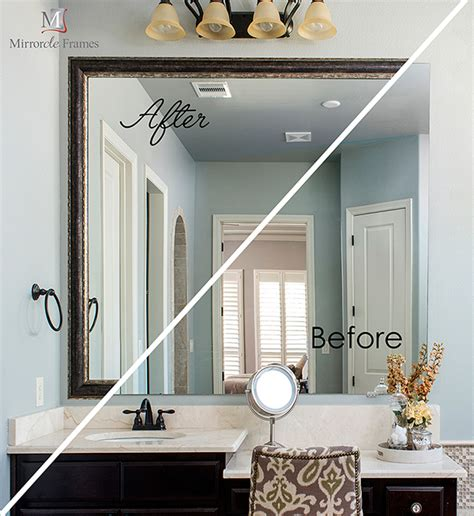 Bathroom Mirrors Houston by Mirror Frames Houston Frame Your Vanity Mirror Newluxe