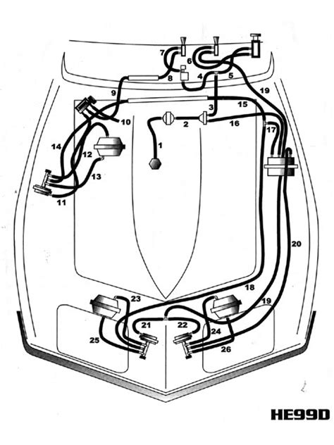 corvette vacuum systems guide headlight  windshield
