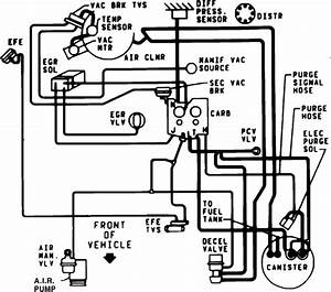 1986 El Camino Emissions Vacuum Diagrams