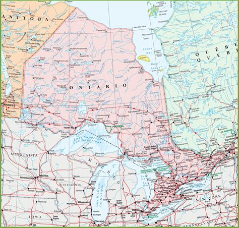 map  ontario  cities  towns