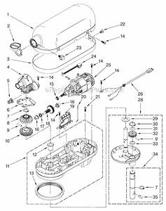 Kitchenaid 4kg25h3x Parts List And Diagram