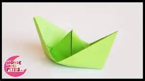 origami le petit bateau en papier pli 233 youtube