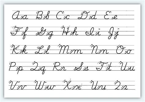 free printable cursive alphabet worksheets 1 classroom