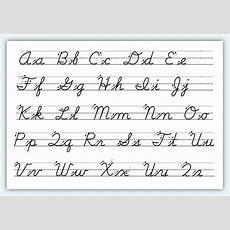 Free Printable Cursive Alphabet Worksheets #1  Classroom Ideas  Cursive Letters Worksheet