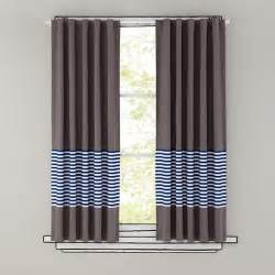 curtains blue stripe grey window curtains the land of nod