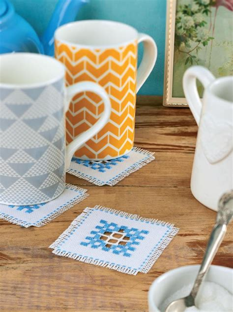 hardanger embroidery coasters  sewing patterns sew