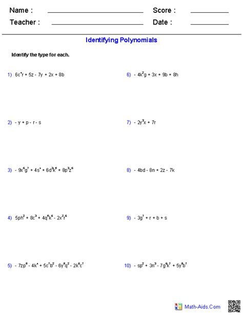 dividing monomials worksheet  answer sheet images